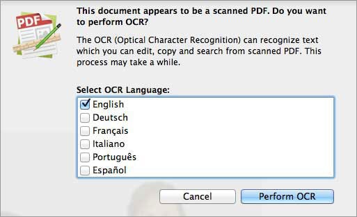 edit scanned PDF files with OCR