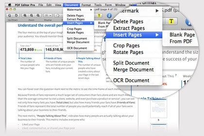Edit PDF Pages, Split & Merge PDF Files
