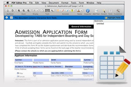 Fill out and Customize PDF Forms