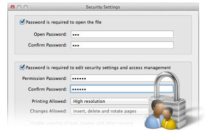 Protect PDF Files with Passwords