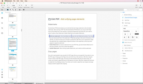 Mac PDF Reader to edit PDF Text
