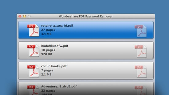 Wondershare PDF Password Remover for Mac feature image