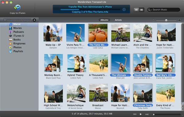 Wondershare TransPod Lite for Mac Screenshot