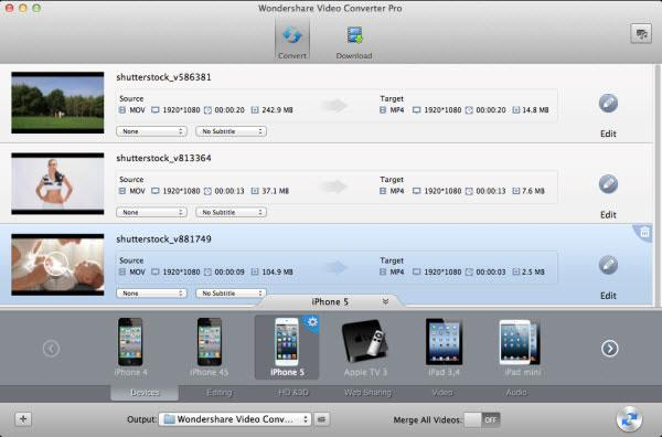 MKV to iPod converter, iPod output