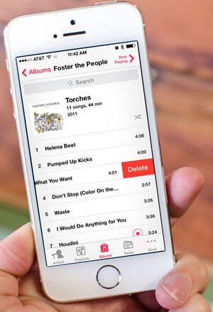 how to permanently delete songs from iphone