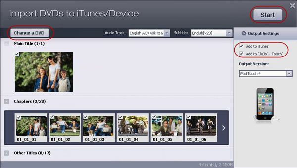 import dvd to iTunes