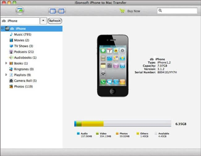 istonsoft iphone to mac tr