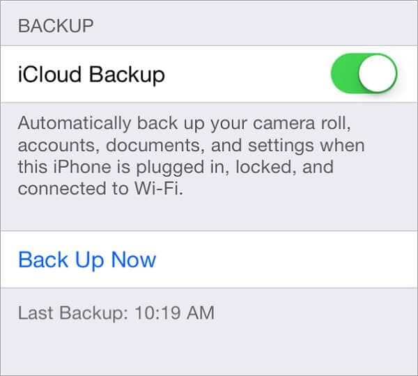 iphone contact backup