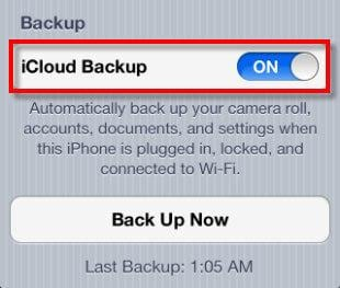 backup iphone data