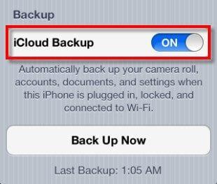 backup iPad on iCloud