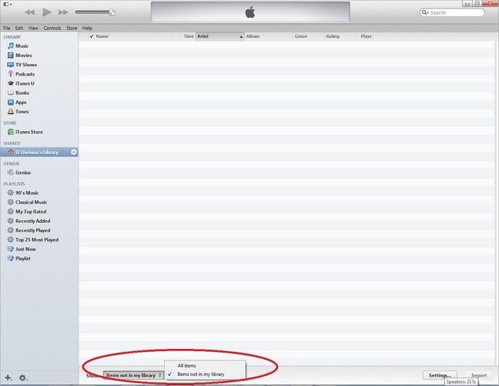 itunes file sharing folder