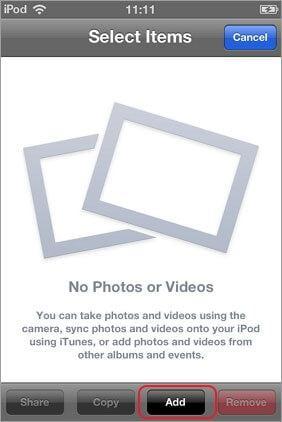 export camera roll to album