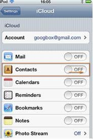 icloud contacts backup