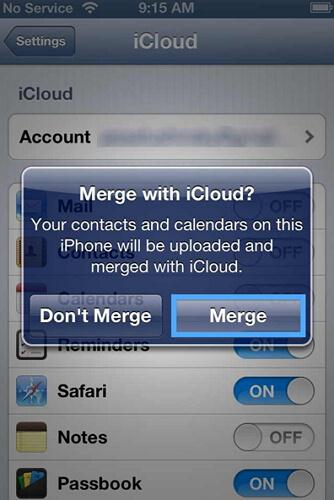 how to sync iphone to icloud