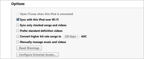 can't sync ipod to itunes