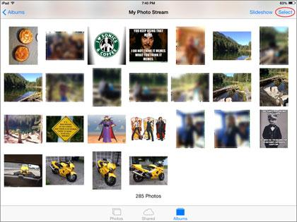 deleting photos from iPad