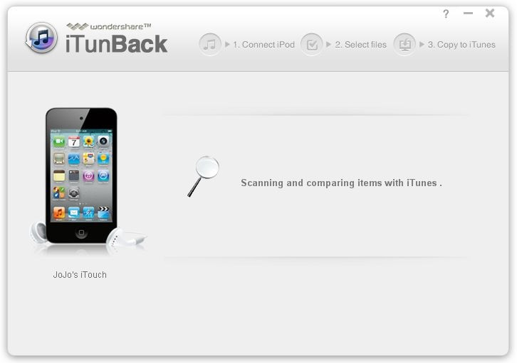 Wondershare iTunBack Screenshot