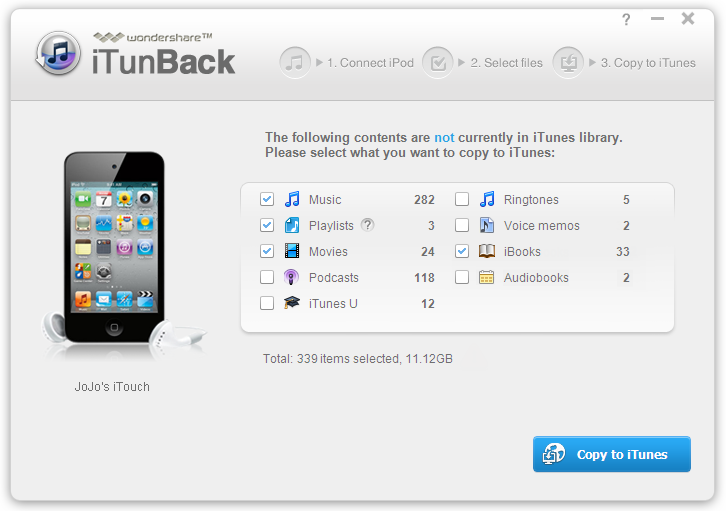 Wondershare iTunBack 1.0.2 full