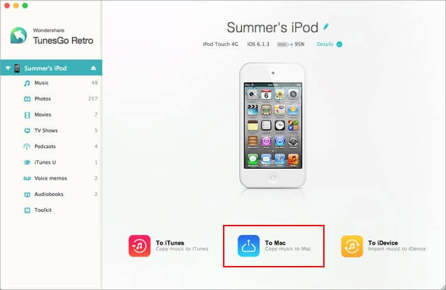 how to transfer music from ipod touch mac