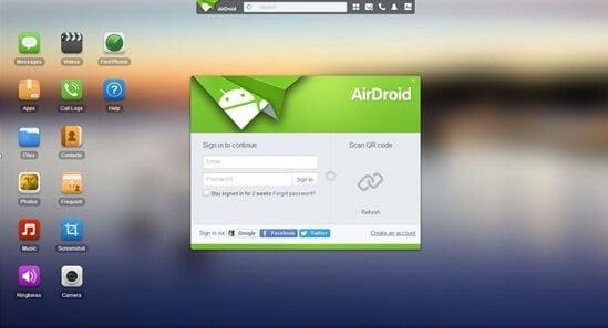 wirelessly transfer android files