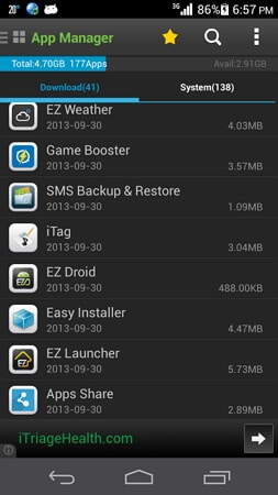 android application manager
