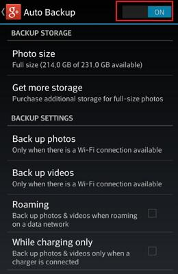 how to backup pictures on android