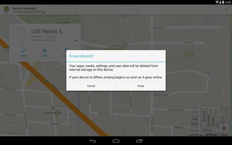 how to setup android device manager