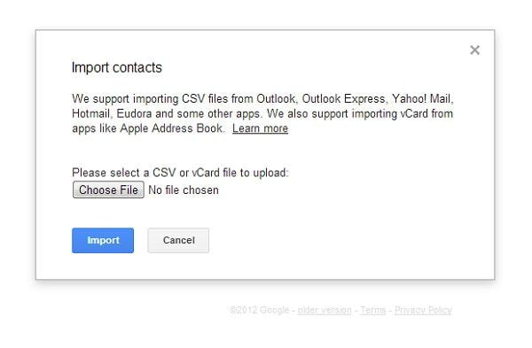 how to import csv contacts to android