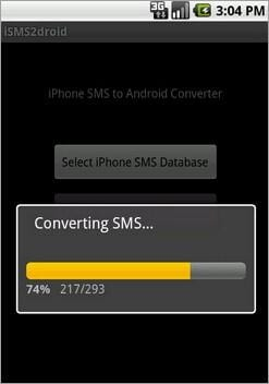 transfer sms messages from iphone to android