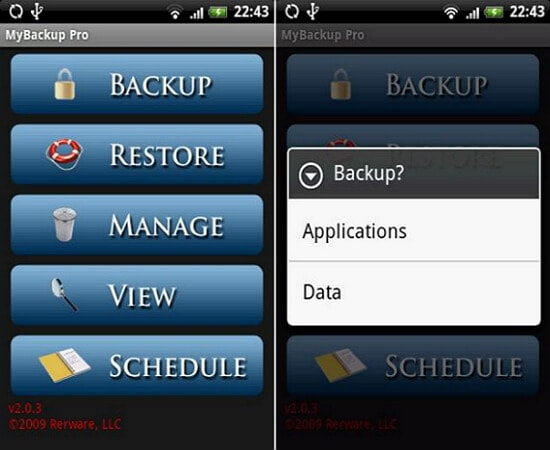 android sd card backup