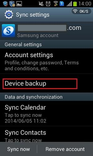samsung galaxy cloud backup