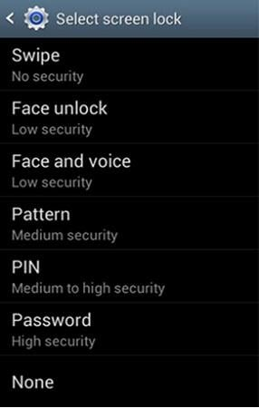 backup pin for samsung