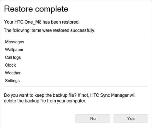 htc sync backup