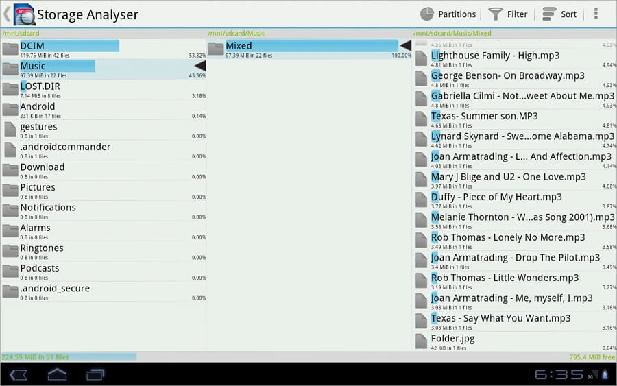 best android storage manager