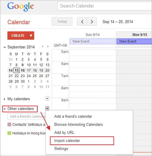 share icloud calendar with android