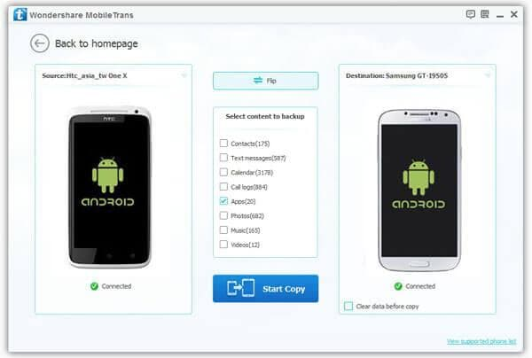 transfer apps from android to motorola moto x