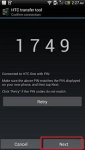 transfer contacts from android to htc