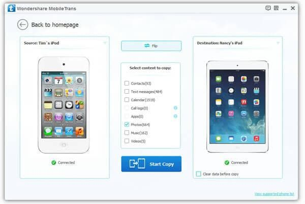 how to transfer photos from ipod to ipad