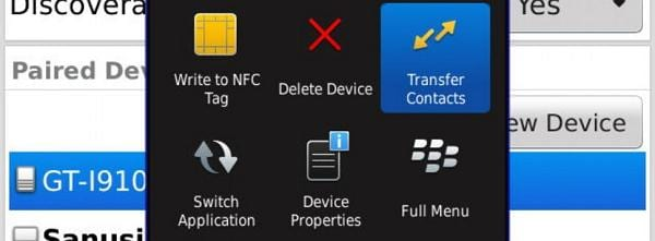 copy contacts from blackberry to samsung