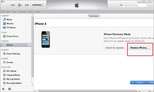 iphone passcode reset without restore