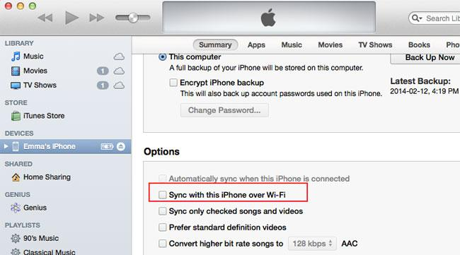 sync iphone with mac