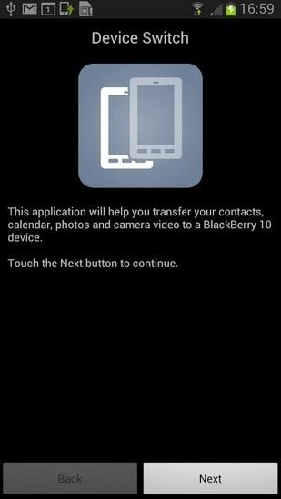 Free way of transferring data from Sony to BlackBerry