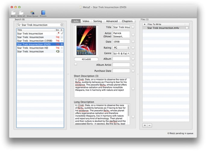 How to Add MP4 Metadata for Windows/Mac (Mavericks included)