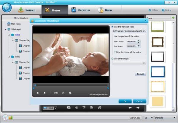 DVD Creator guide - customize menu