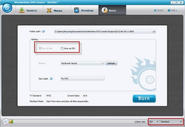 convert MXF to dvd