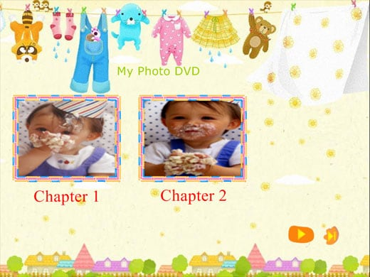 Free baby themed dvd menu background templates for Dvd flick menu templates