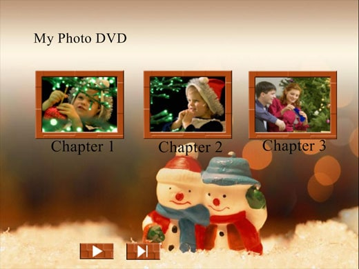 Free christmas themed dvd menu background templates for Dvd flick menu templates download