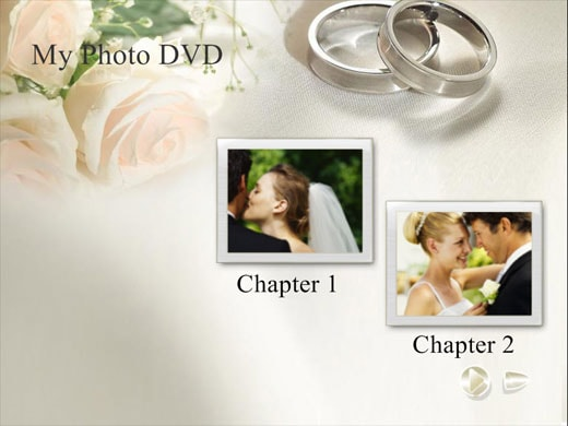 Free wedding themed dvd menu background templates for Dvd flick menu templates