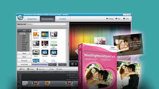 Wondershare Wedding Movie Style Pack feature image