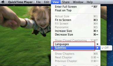 display quicktime subtitle
